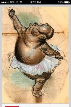 Hippo balerina: makes me think of fantasia