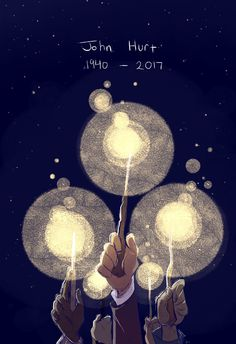 """RIP Sir John Hurt. """"The wand chooses the wizard, Mr. Potter."""" Seriously guys, I'm crying."""