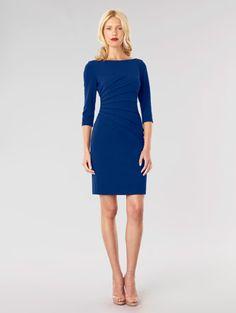 David Meister Sunburst Pleated Crepe Dress - Made in the USA