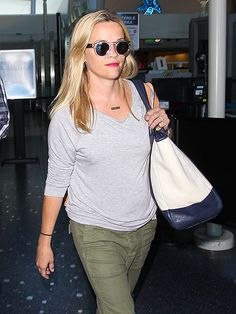 Crystal clear sunnies are all the rage! Just check out Reese Witherspoon rockin' a pair of her own during a jet-setting adventure!