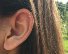 SALE Tiny Double Wrap Ear Cuff Ear Cuff Fake by Benittamoko