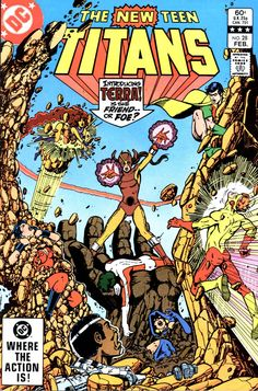 The New Teen Titans #28, February 1983, cover by George Perez
