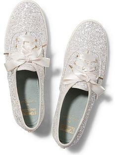 Wedding shoes! Keds Keds x kate spade new york Champion Glitter Wedding