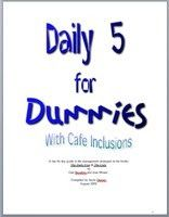 Daily 5 For Dummies {free download} includes directions for making whisper phones