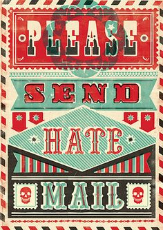 Stamped and sent #print #letterpress #Typography #sayings #funny