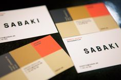 Sabaki cards by The Metric System … great color combo!