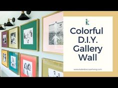 A photo gallery wall is a great way to display family photos. We took ours up a notch by infusing it with color and personality. Learn how we did it in this post! Picture Wall, Photo Wall, Painted Vinyl Floors, Display Family Photos, Bright Wallpaper, Gallery Wall Frames, Black And White Frames, Hallway Decorating, Diy Photo