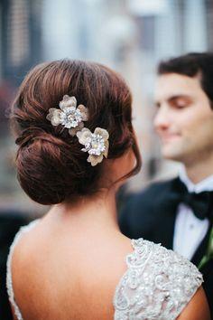 Wedding hair magic: http://www.stylemepretty.com/illinois-weddings/2015/03/19/traditional-chicago-wedding-at-the-w-hotel-city-center/ | Photography: Tim Tab - http://timtabstudios.com/