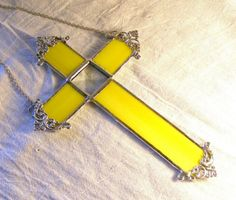 Yellow Cross by MoreThanColors on Etsy,