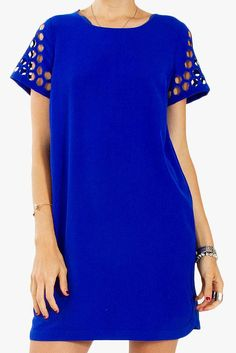 I\'m in love with this royal blue dress!