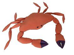 Grote krab knuffel, zonder poten 60 cm breed