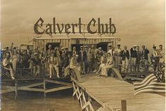 Miami Beach Rod and Reel Club outing at the Calvert Club,1938 Save Old Stiltsville