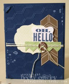 Hello-card - Stampin' Connection