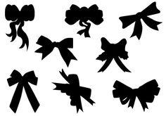 Christmas Ribbon Silhouette Vector DownloadSilhouette Clip Art