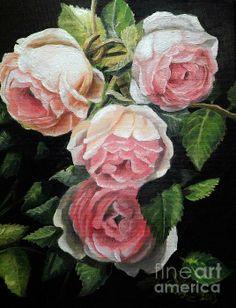 Eden Rose - oil painting on canvas Artist - Sandra Aguirre