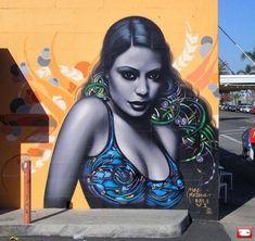 Characters By El Mac, Retna - San Diego (CA) - Street-art and Graffiti Murals Street Art, 3d Street Art, Urban Street Art, Best Street Art, Amazing Street Art, Street Art Graffiti, Street Artists, Urban Art, Graffiti Girl