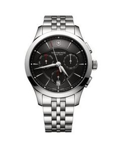 Victorinox Swiss Army, Inc Men's Men's Alliance Chronograph Black Dial Watch -  - No Size