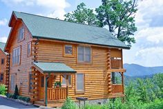 Time Well Wasted - The gorgeous 1 bedroom cabin has an amazing view of the Smokies! http://www.hearthsidecabinrentals.com/cabins/time-well-wasted/