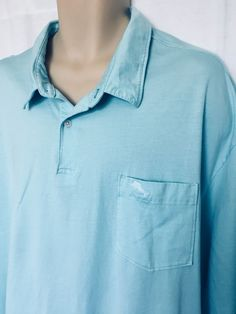 535ac6a904e52 TOMMY BAHAMA Big Size Polo w Chest Pocket Size 3XLB Mint Green Short Sleeve