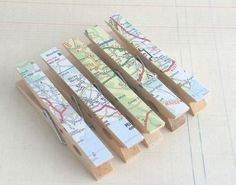 Tons of cute clothespin crafting ideas! Maps, tissue paper, stickers, and more!
