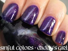 One of my three favorite nail colors...Daddy's Girl by Sinful Colors.