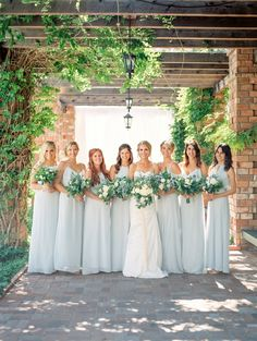 Bridesmaids from Nouvelle Amsale   Jillian Rose Photography on @eadweddings via @aislesociety