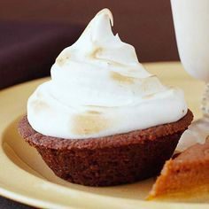 Mini Sweet Potato Pies are an adorable way to celebrate the flavors of the season! More pie ideas: http://www.bhg.com/christmas/recipes/holiday-pies/?socsrc=bhgpin112613minisweetpotatopies&page=25