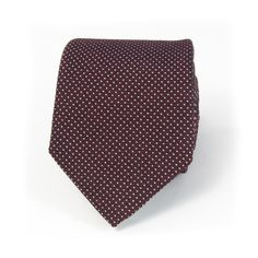 Edward Sexton - Burgundy micro dot silk tie