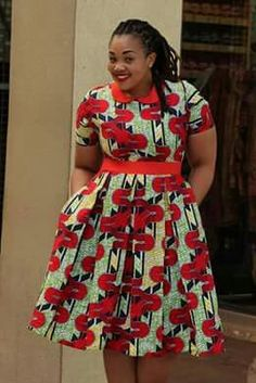 Red and green African wear Latest African Fashion Dresses, African Dresses For Women, African Print Dresses, African Print Fashion, African Attire, African Wear, African Women, African Prints, African Clothes