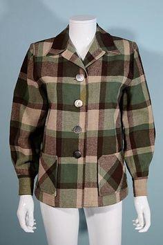 Pendleton Vintage Jacket, Green Brown Wool Plaid Rockabilly Blazer S Vintage Coat, Vintage Clothing, Vintage Outfits, Pendleton Jacket, Winter Coats, Winter Wear, Keep Warm, Wool Coat, Clothing Ideas