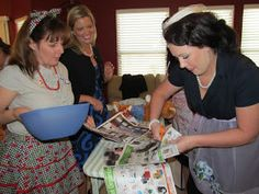 """Bridal Shower Game: """"The Perfect Housewife"""" Relay Race"""