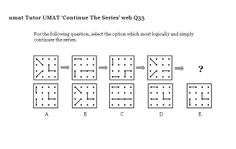 On this page are lots of non-verbal reasoning UMAT questions for you to work through: continue the series, complete the diagram, middle of the sequence- now in test format; This Or That Questions, Free