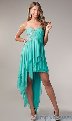 My Michelle Dress, Strapless Hi Lo Formal Dress - Simply Dresses
