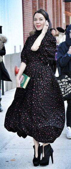 New York fashion week .Ulyana