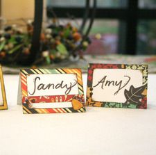 Fall place cards and napkin rings. Good project for the upcoming season!