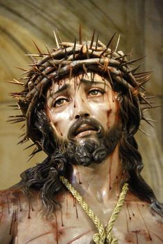 """Behold the man!"" After He was scourged and dragged through the streets to endure the cross for you and for me."