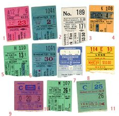 Stubs: Joplin + Big Brother Holding Co, Doors + Who, Dave Clark 5, Who performing Tommy, Mothers Invention + Youngbloods, Young Rascals, Judy Collins, Elvis, Led Z, Moody Blues + John Mayall, Yes