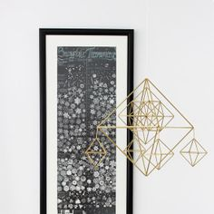 Brass Classic Himmeli / Modern Hanging Mobile / by HRUSKAA on Etsy, $265.00