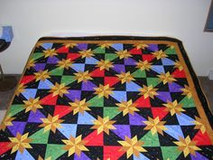 11-12-07 I made this Hunter's Star quilt last year. I took the class from Trudie Hughes in January 2006 and took a couple weeks in the summe...