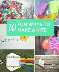 10 Fun Ways to Make a Kite. These make great summer crafts for the kids!