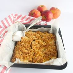 Marzipan apple cake with an almond crumble topping. This one doesn't need any further explanation, does it? So GOOD!