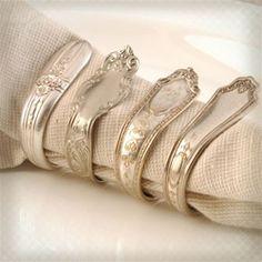 vintage silverware napkin rings