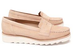 Chaussures Femme Mocassins Printemps Eté 2015 Maurice Manufacture BAUDO Chèvre velours nude