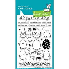 Lawn Fawn chirpy chirp chirp Stamps