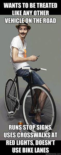 Scroll2Lol.com - Scumbag Cyclist