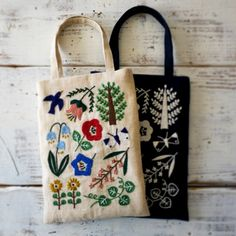 embroidery bag by yumiko higuchi
