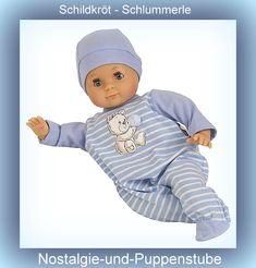 Schildkröt Schlummerle mit Malhaar, 32 cm, blau-weiß... nur 61.95 EUR