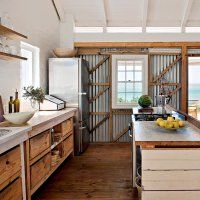 Une cuisine en bois esprit récup' - Marie Claire Maison