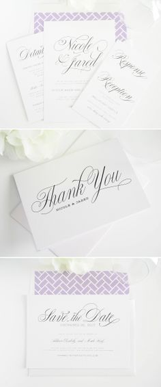 garden script wedding invitations #invitations #stationery #wedding #thankyou http://www.shineweddinginvitations.com/wedding-invitations/garden-script-wedding-invitations