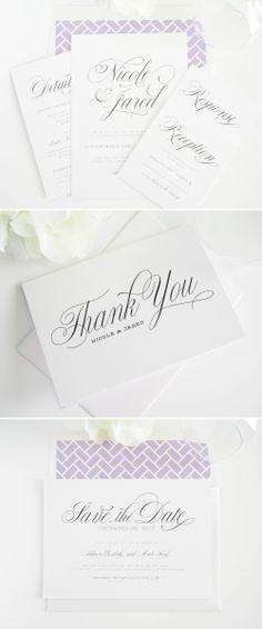 garden script wedding invitations #invitations #stationery #wedding #thankyou http://www.shineweddinginvitations.com/wedding-invitations/garden-script-wedding-invitations